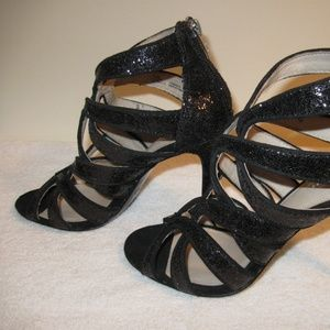 """NEW COACH """"Ludlow"""" Strappy Glitter Sandals"""